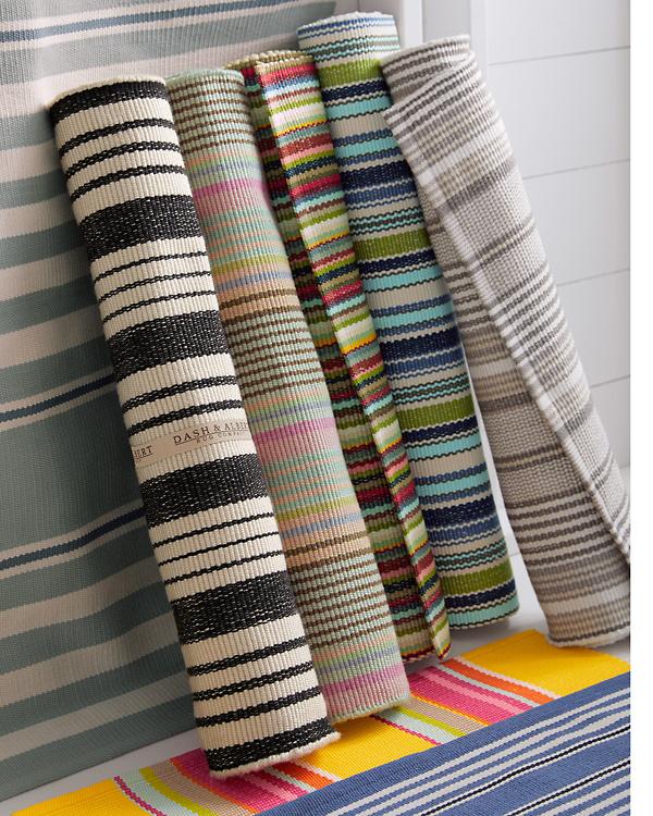 Bertie Stripe Indoor Outdoor Rug By Dash Amp Albert Garnet