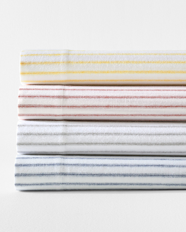 Paintbrush Ticking Flannel Cases