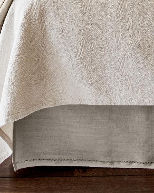 Linen Bed Skirt King.Eileen Fisher Farmhouse Bedskirt