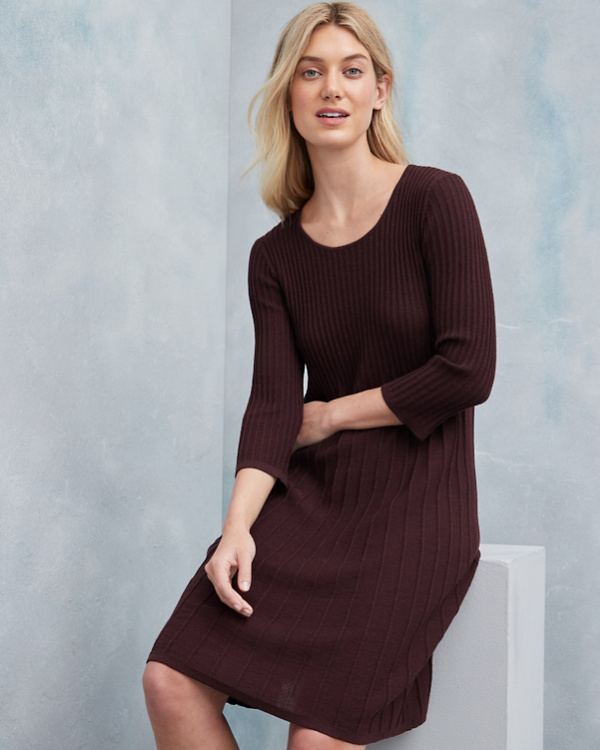 EILEEN FISHER Washable Wool Scoop-Neck Dress - Regular e6f53e11c