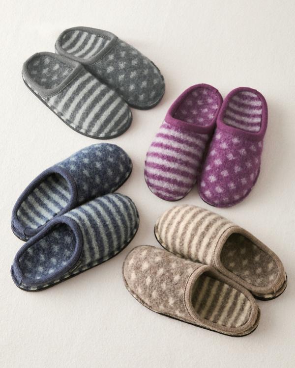 ae35efd7961ef Haflinger Shirley Dot-and-Stripe Slippers