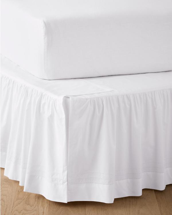 Supima Cotton Hemstitched Adjustable Bedskirt Garnet Hill