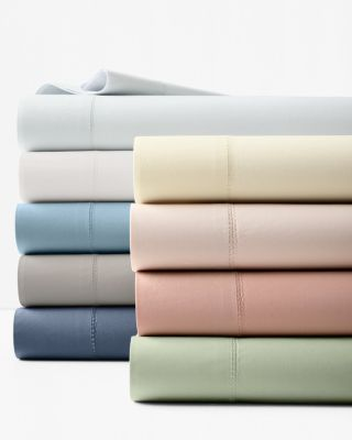 Special Savings Solid Hemstitched Supima® Percale Bedding by Garnet Hill