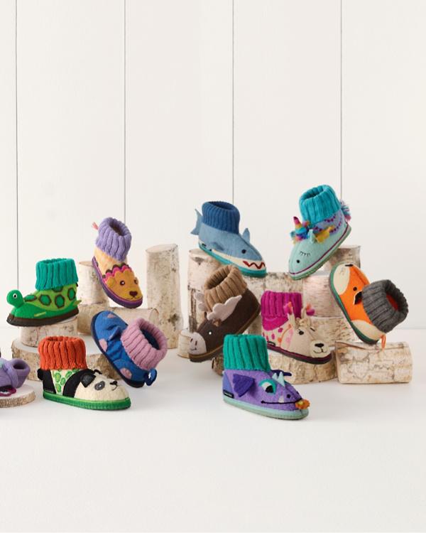 Kids' Boiled Wool Slipper Boots, Sizes 04-4 | Garnet Hill