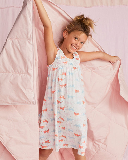 cbd32c95cdbb Girls  Signature Smocked Ruffle Nightgown