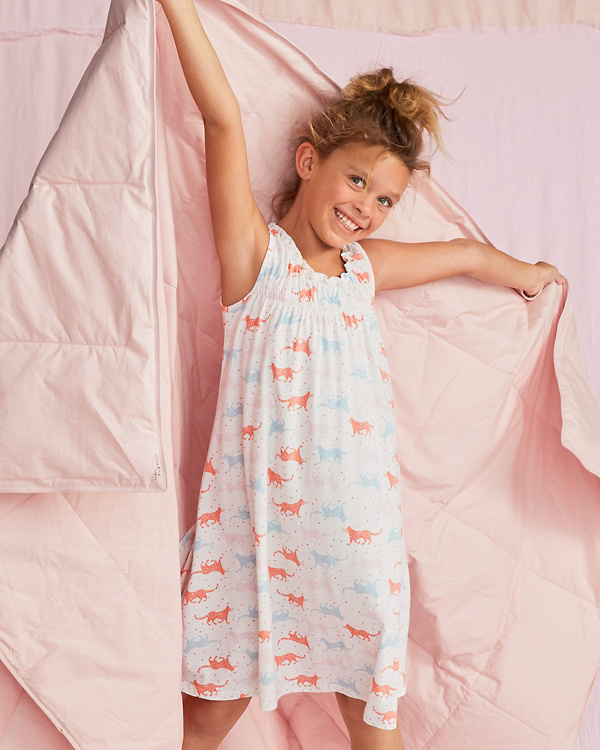 ee0376267b Girls  Signature Smocked Ruffle Nightgown