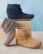 Kids' Minnetonka Double-Fringe Boots