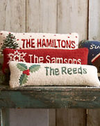 Personalized Hooked Wool Pillow Collection