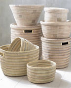 EILEEN FISHER Solid Senegal Baskets and Hamper