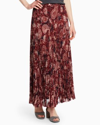 Pleated Maxi Skirt by Garnet Hill