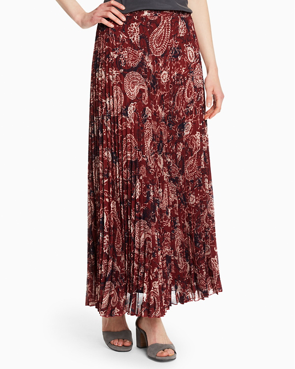 c4953335c7 Pleated Maxi Skirt | Garnet Hill