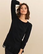 Shirttail Cashmere Sweater