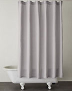 EILEEN FISHER Solid Washed-Linen Shower Curtain