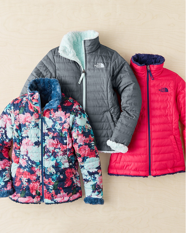 d2ba3b009 The North Face® Girls' Reversible Mossbud Swirl Jacket