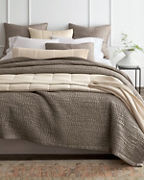 EILEEN FISHER Waves Washed-Silk Quilt, Sham, and Pillow Covers