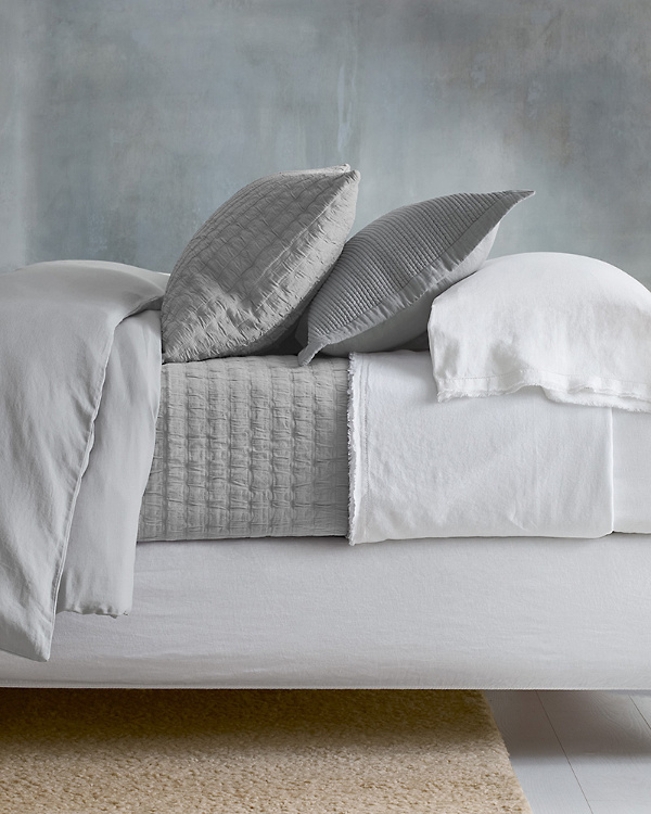 9db3f27a1e EILEEN FISHER Rippled Organic-Cotton Coverlet and Shams
