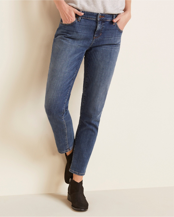 be8466abed EILEEN FISHER Organic-Cotton Stretch Boyfriend Jeans - Regular