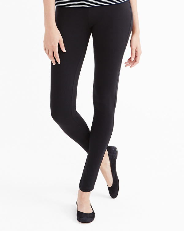 08edab32768538 Green Cotton Knit Leggings | Garnet Hill