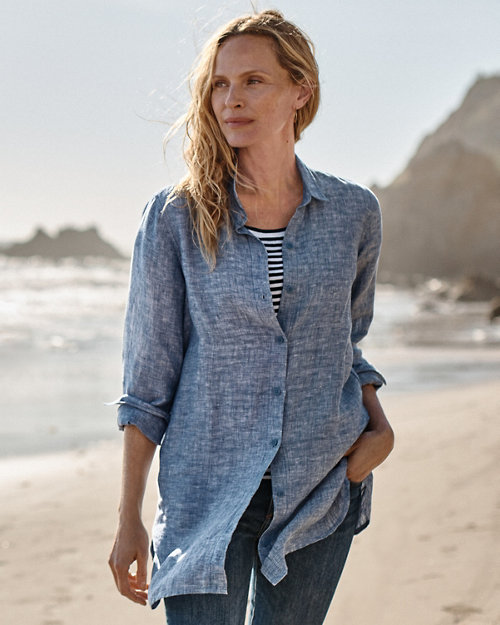 bfd2c0cff5c Easy Linen Tunic. Quick Shop