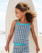 Wave Rider Girls' Cross-Back Tankini Top
