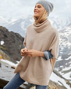 Cashmere Turtleneck Sweater Cape