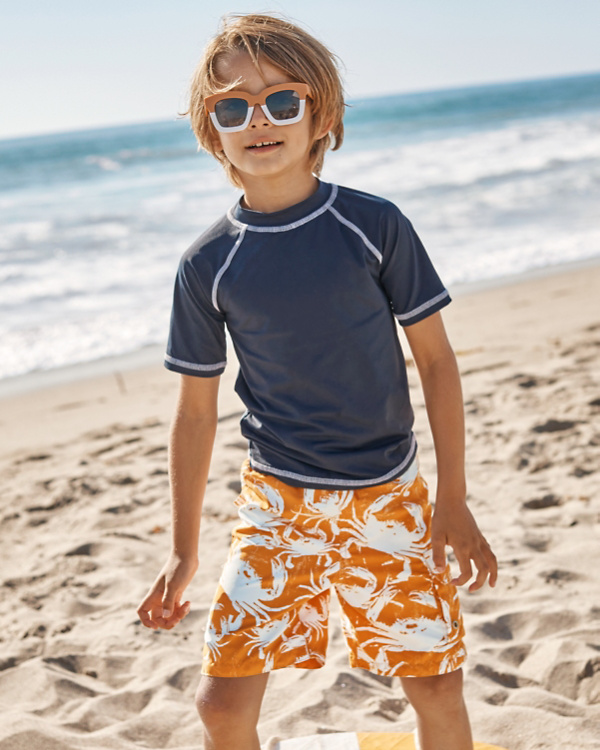 d8ad9f16ed Boys' Short-Sleeve Rashguard | Garnet Hill