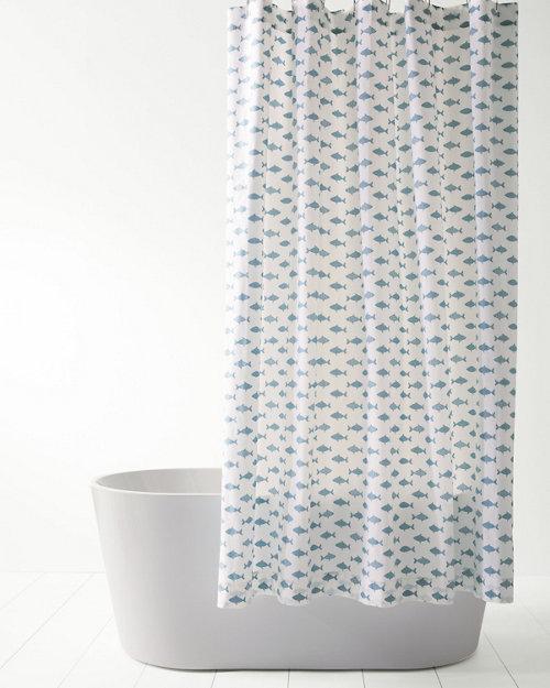 Mini Print Shower Curtain