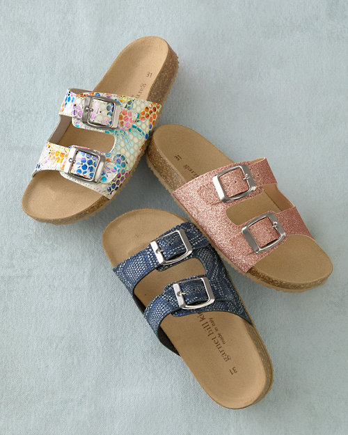 c12141114 Kids  Double-Strap Cork-Bed Sandals