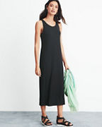 EILEEN FISHER Viscose-Jersey Scoop-Neck Long Dress