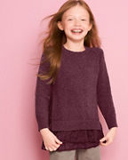 Girls' Layered Shirttail Sweater