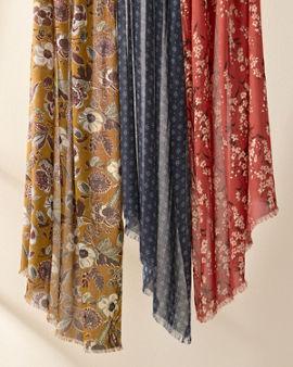 889a866bbc Elizabeth Gillett for Garnet Hill Printed Scarf