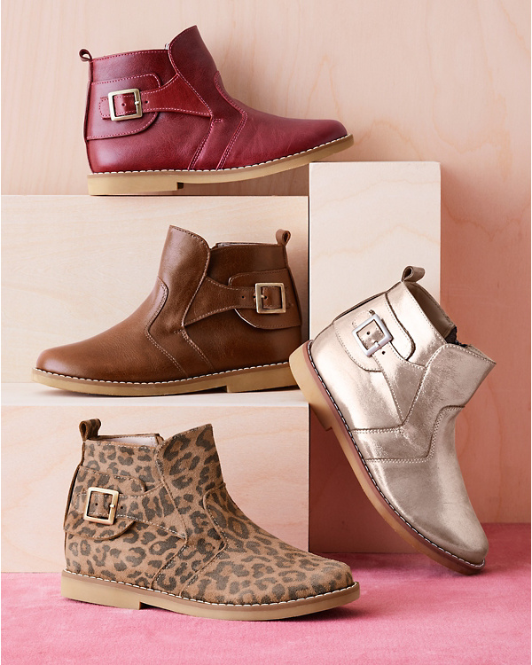 Kids  Elephantito Buckled Leather Ankle Boots  dc3204801