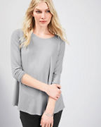 EILEEN FISHER Lightweight Viscose-Jersey Jewel-Neck Top