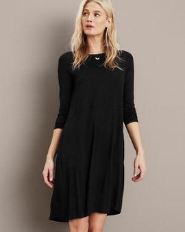 b4b37e0067 EILEEN FISHER Washable Wool Scoop-Neck Dress