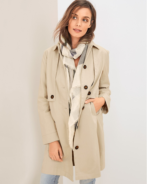 8deb2960 Organic-Cotton Utility Trench Coat | Garnet Hill
