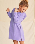 Girls' Surplice Solid Hooded Terry Cover-Up