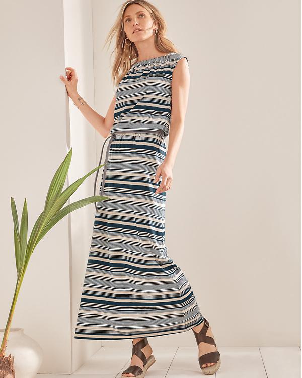 Santorini Knit Maxi Dress Garnet Hill