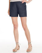Linen Side-Button Shorts