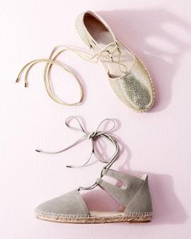 4c85547eb6c Kenneth Cole Odile Ankle-Wrap Espadrilles | Garnet Hill