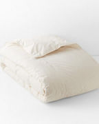Garnet Hill Organic-Cotton & Down Baffled-Box Comforter