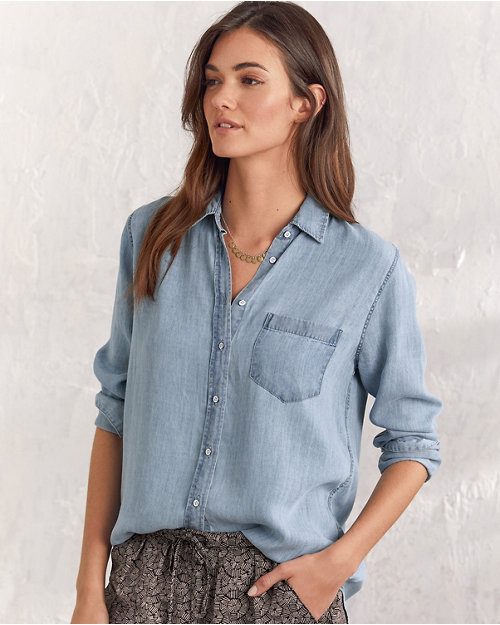 57294d8574ab Women's Cotton Tops, Tunic Shirts, Blouses | Garnet Hill