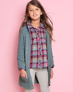Girls' Pintucked Woven Shirt
