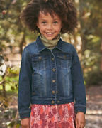 Girls' Embroidered Denim Jacket