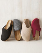 Boiled Wool Mules