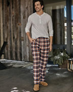 Men's Organic-Pima-Cotton Flannel Pants