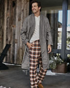 Men's Organic-Pima-Cotton Flannel Robe
