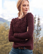Shimmering Cabled Cashmere Sweater