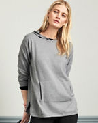 Organic-Cotton Hooded Sweater Tunic