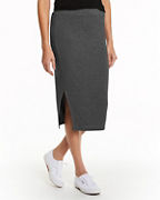 Jersey Side-Slit Skirt