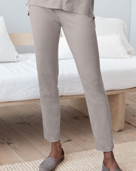 76b75902f9 EILEEN FISHER Seam-Detail Ankle Pajama Pants
